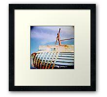 boat moored Framed Print
