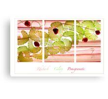 Rhubarb, Celery and Pomegranate Canvas Print