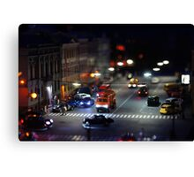 crosswalk at night Canvas Print