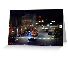 crosswalk at night Greeting Card