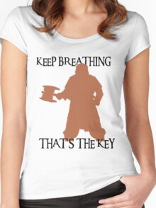 Gimli: Keep breathing, that's the key Women's Fitted Scoop T-Shirt
