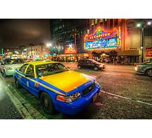 Hollywood Taxi Photographic Print