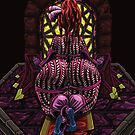 Demonic Altar: Magenta Coloring by Daniel Gray