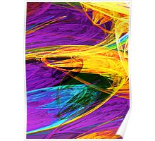 Fractal - Butterfly Wing Closeup Poster