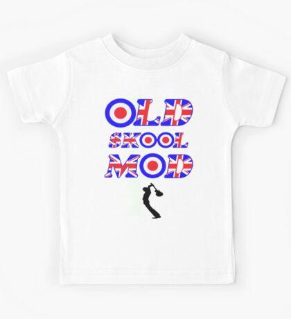 OLD SKOOL MOD - BLACK Kids Tee