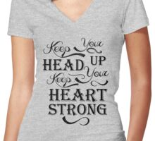 Keep Your Head Up Women's Fitted V-Neck T-Shirt