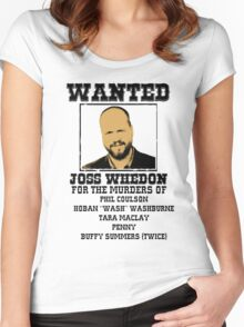 Joss Whedon: wanted Women's Fitted Scoop T-Shirt