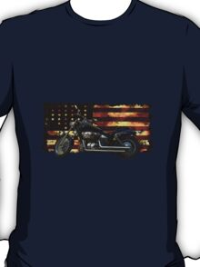 Cool Union Flag, Stars and Stripes, Motorcycle T-Shirt