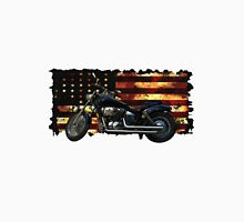 Cool Union Flag, Stars and Stripes, Motorcycle Unisex T-Shirt