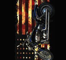Union Flag, Stars and Stripes, Motorcycle by NaturePrints