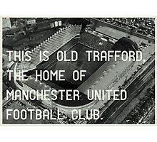 Manchester United Football Club Photographic Print