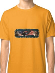 Eagles, Bear, Wolf, American Flag US Patriotic Classic T-Shirt