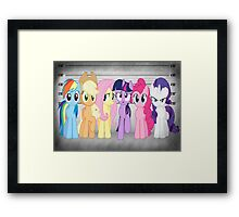 Mane 6 Line Up  Framed Print