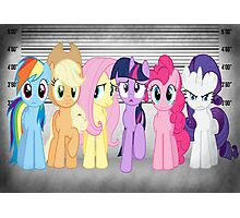 Mane 6 Line Up  Photographic Print
