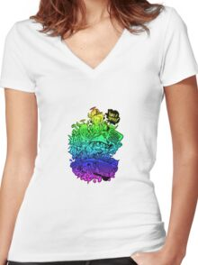 Have it your way - rainbow. Women's Fitted V-Neck T-Shirt