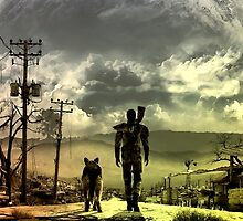 Fallout great shade wasteland view by dalla1re