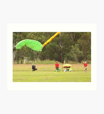 Parachuting Art Print