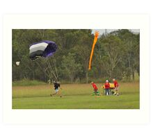 Parachuting Art Print