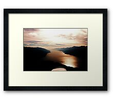 Valley View from Above Framed Print