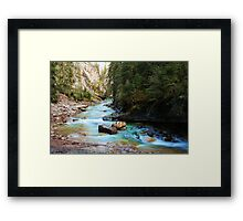 Crystal Blue Canyon Framed Print