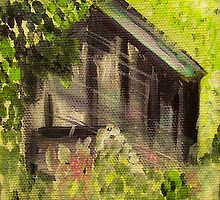 Gray Barn Landscape by hickerson
