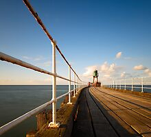 Whitby Pier - evening by PaulBradley