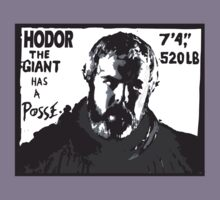 Hodor the giant has a posse. Game of thrones.  by Brantoe