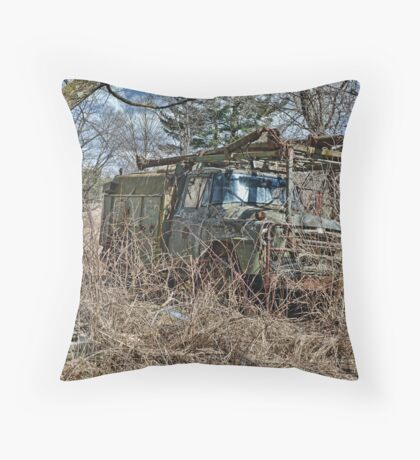 old military vehicle 2? Throw Pillow