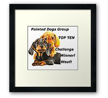 Painted Dogs Top Ten banner No.2 Framed Print