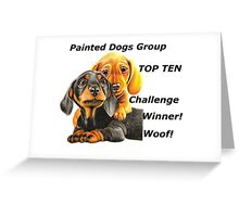 Painted Dogs Top Ten banner No.2 Greeting Card