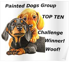 Painted Dogs Top Ten banner No.2 Poster