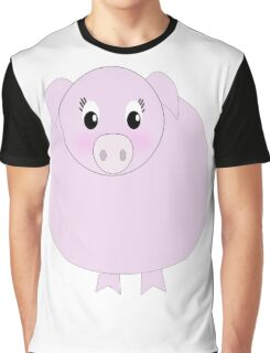 Pretty Pink Pig Graphic T-Shirt