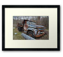 old Ford dump truck Framed Print