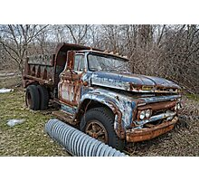 old Ford dump truck Photographic Print