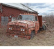 old GMC truck Photographic Print