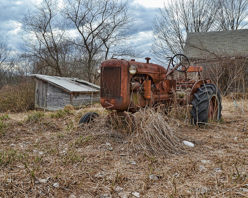 old farm tractor2 by Kathleen Small Wilkie