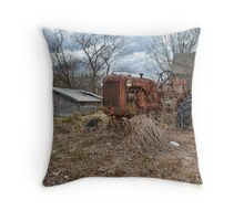 old farm tractor2 Throw Pillow