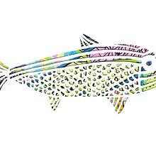 Patterned Papercut Fish by ArmadilloArt