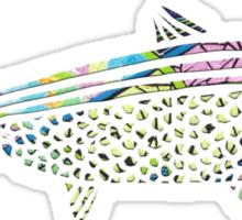 Patterned Papercut Fish Sticker