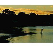 Sunset Fisherman Photographic Print