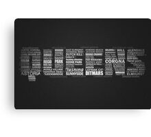 Queens NY Typography Text Canvas Print