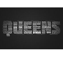 Queens NY Typography Text Photographic Print