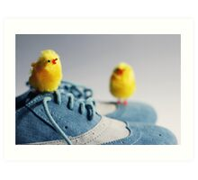 Toy Chickens - Shoes Art Print