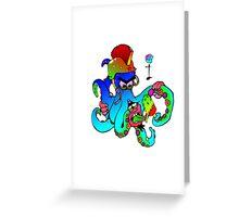 i-brow design: ( octoman ) Greeting Card
