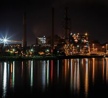 Bright Industrial Night by Michael Clarke