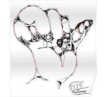 Hand I -(310313)- Digital art/mouse drawn/Program: MS Paint Poster