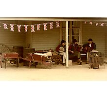 A moment in the Gold rush era at Ballarat... Photographic Print