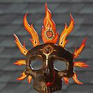 Fire Calavera-paper mache by Diegomrios