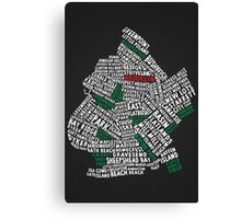 Brooklyn New York Typography Map Canvas Print