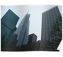 Skyscrapers Surrounding Bryant Park, New York City Poster